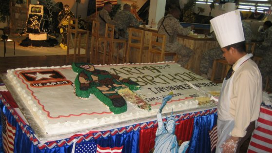 US Army 233 birthday cake Al Asad Iraq