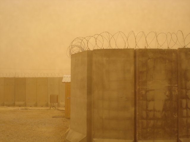 Sandstorm coming in Al Asad Iraq