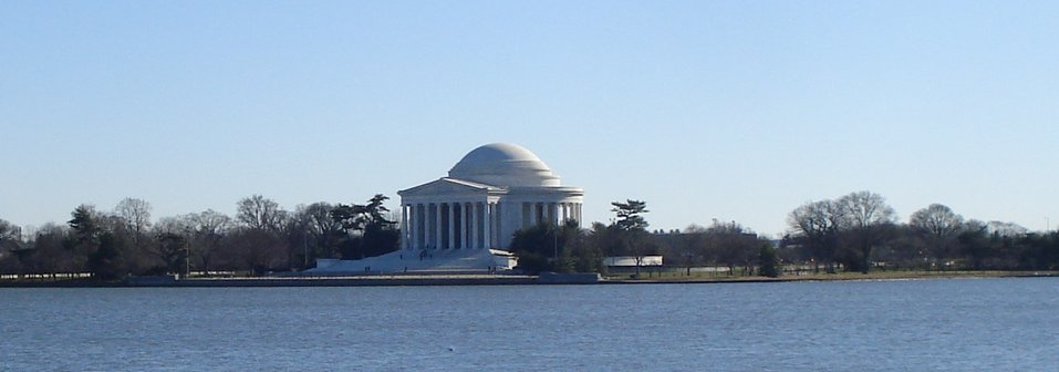Jefferson Memorial over the water