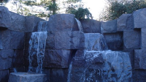 Waterfalls at Roosevelt Memorial