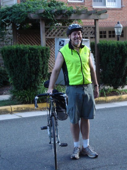John Matel and his bike on August 24, 2009