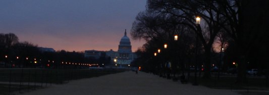 US Capitol just after dawn on January 2, 2009