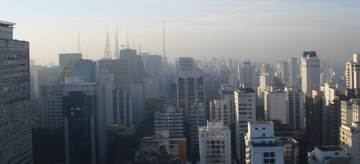 Sao Paulo from Mariott on May 14, 2009