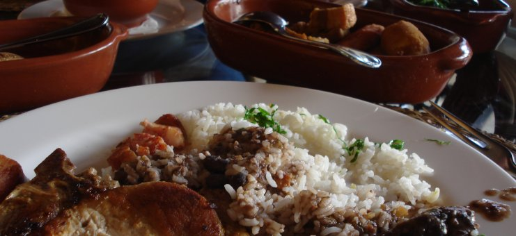 Feijoada meal in Brazil on May 15, 2009