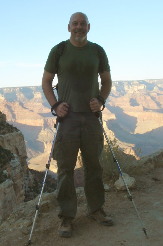 john Matel at top of Grand Canyon