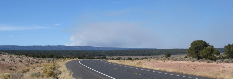 Smoke from controlled burn near Grand Canyon