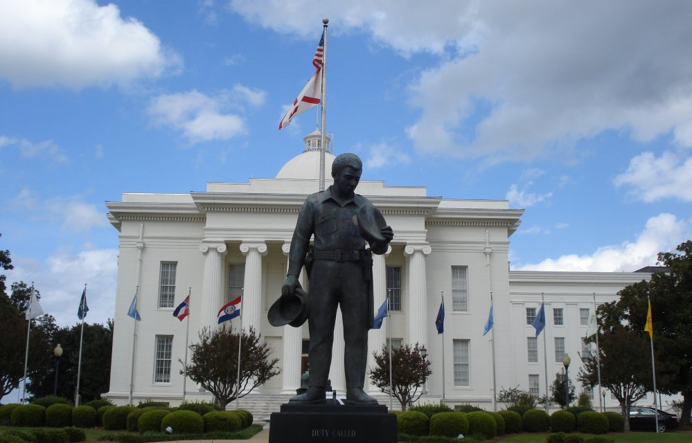 Police memorial in Montgomery, Alabama