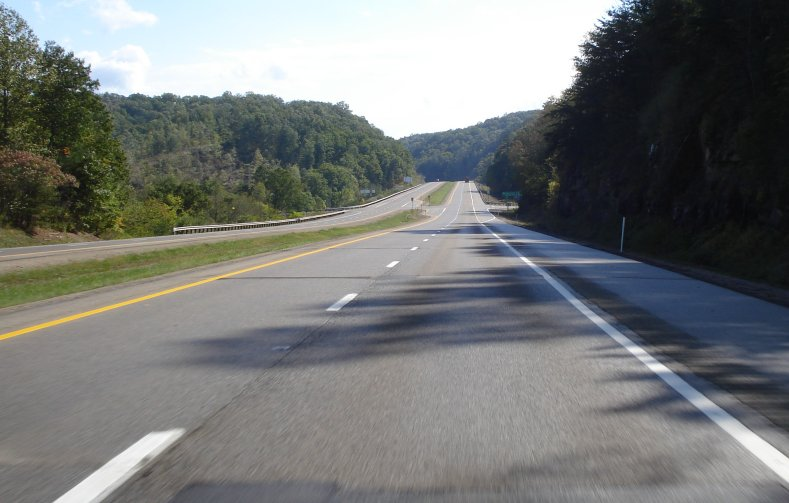 US 50 superhighway through West Virginia
