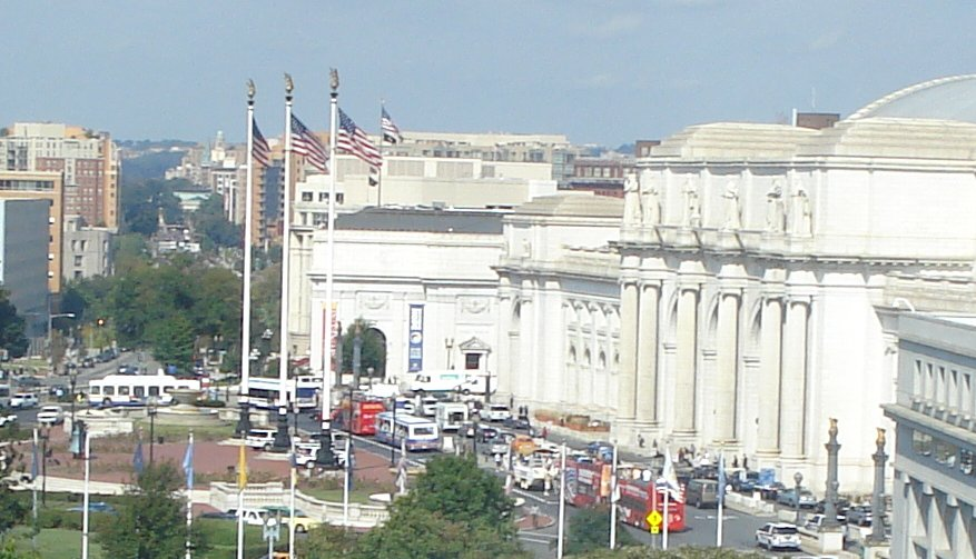Union Station in Washington from 8th Floor of Heritage Foundation on September 22, 2009