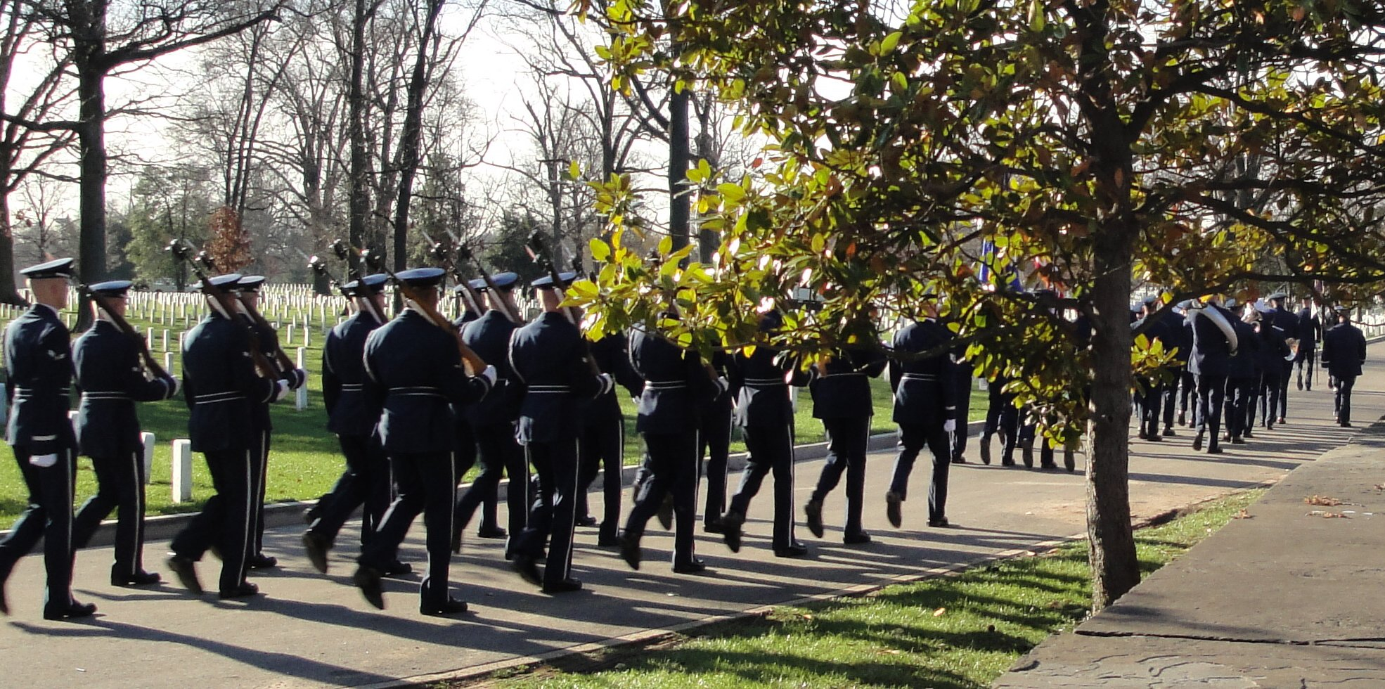 Marching band at Arlington Cemetary