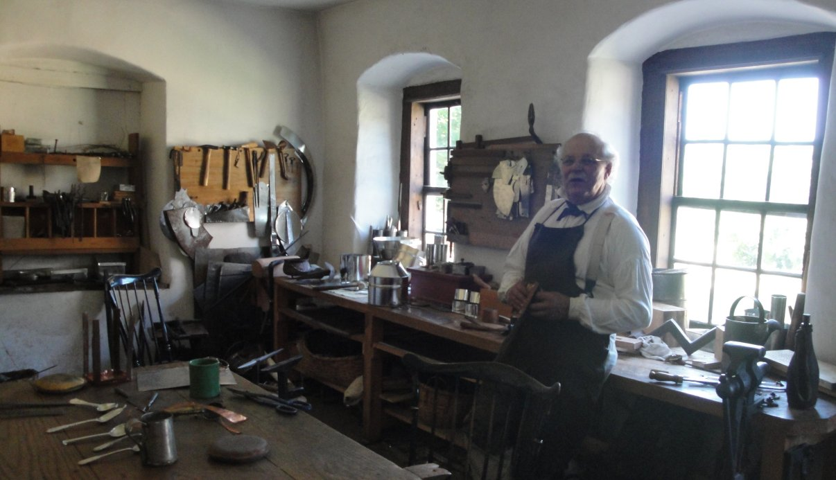 Gunsmith-tinsmith in Old Salem, NC