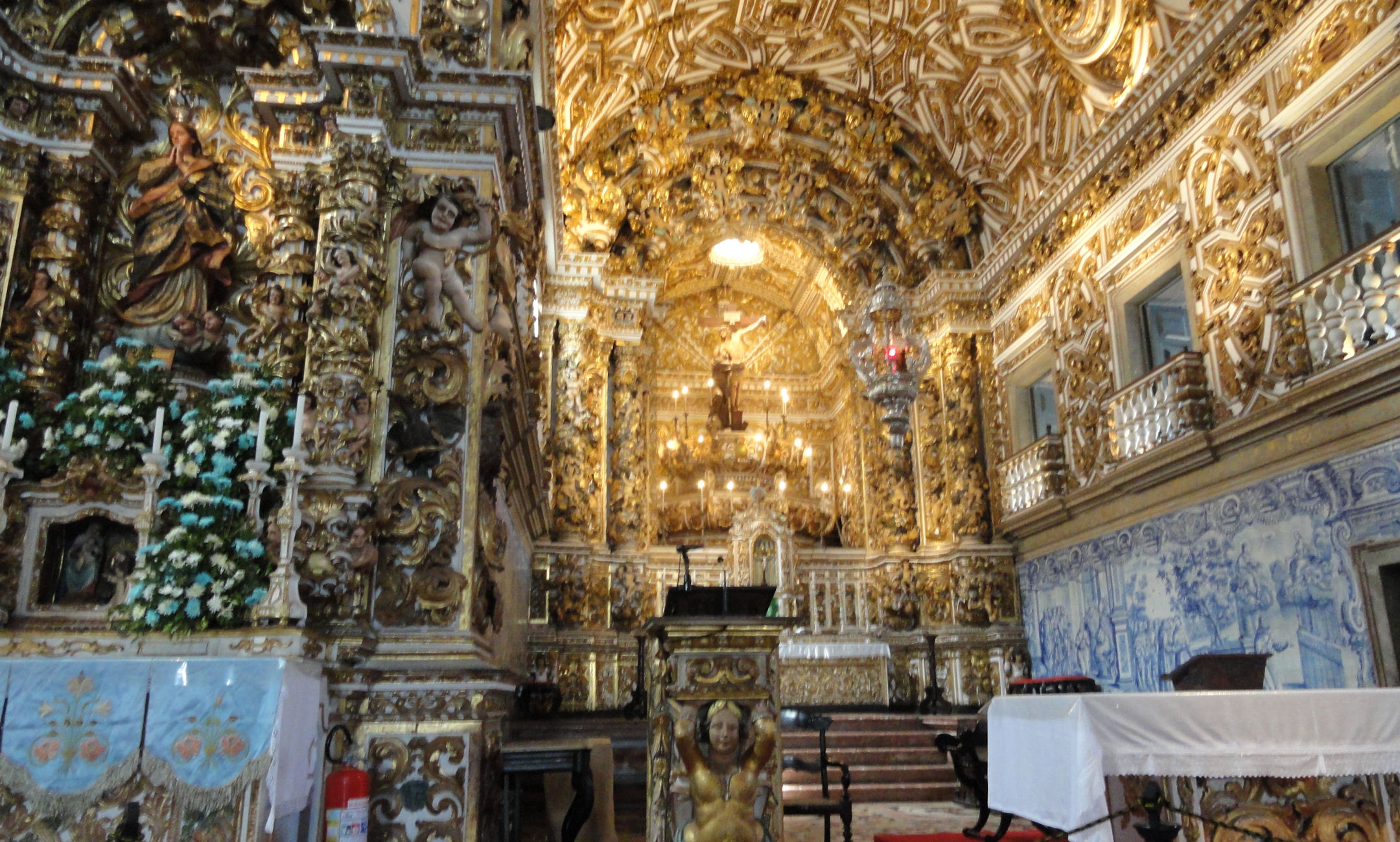 Baroque Architecture Interior Church World Wide Matel Old Salvador
