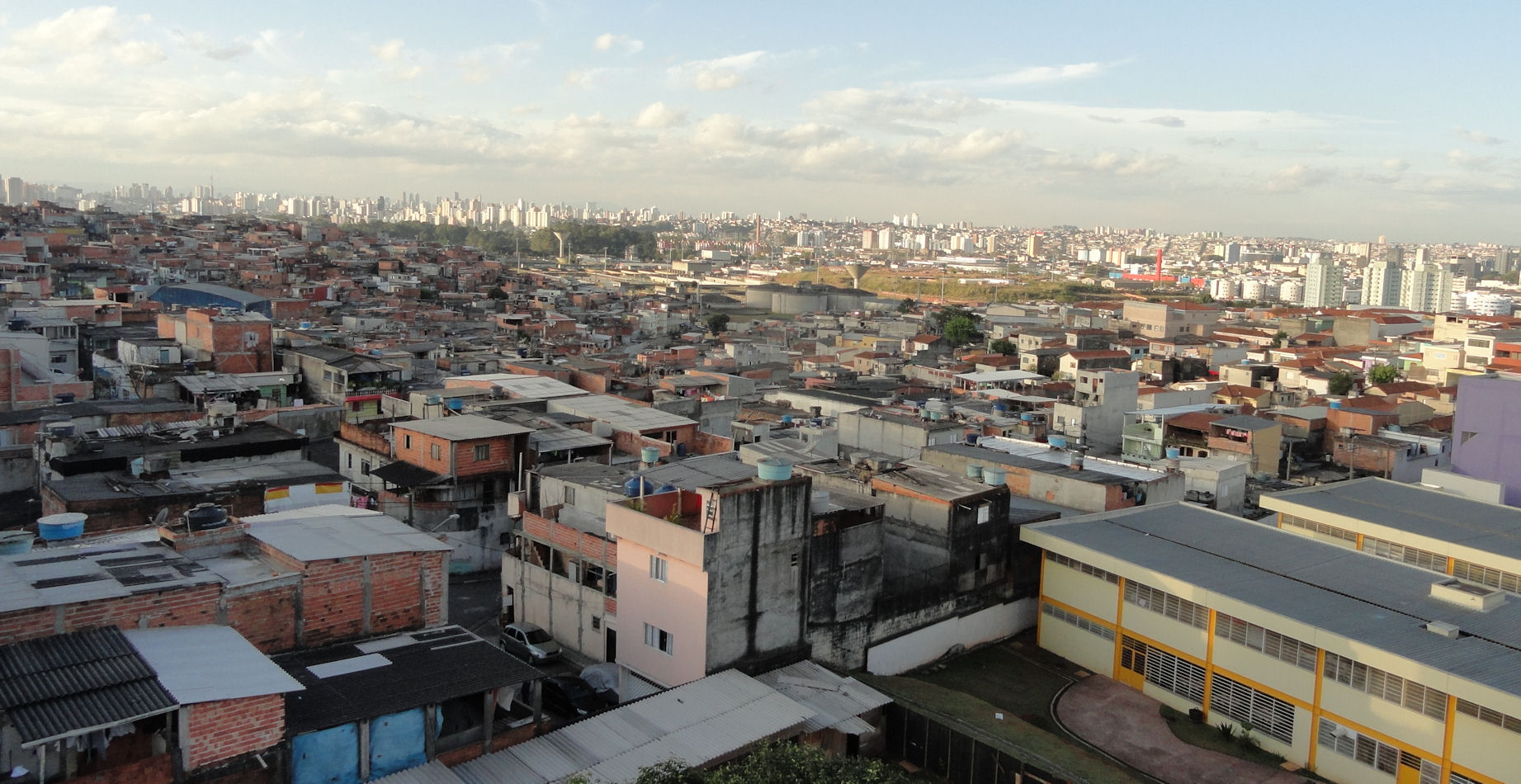 Favela of Heliopolis in Sao Paulo