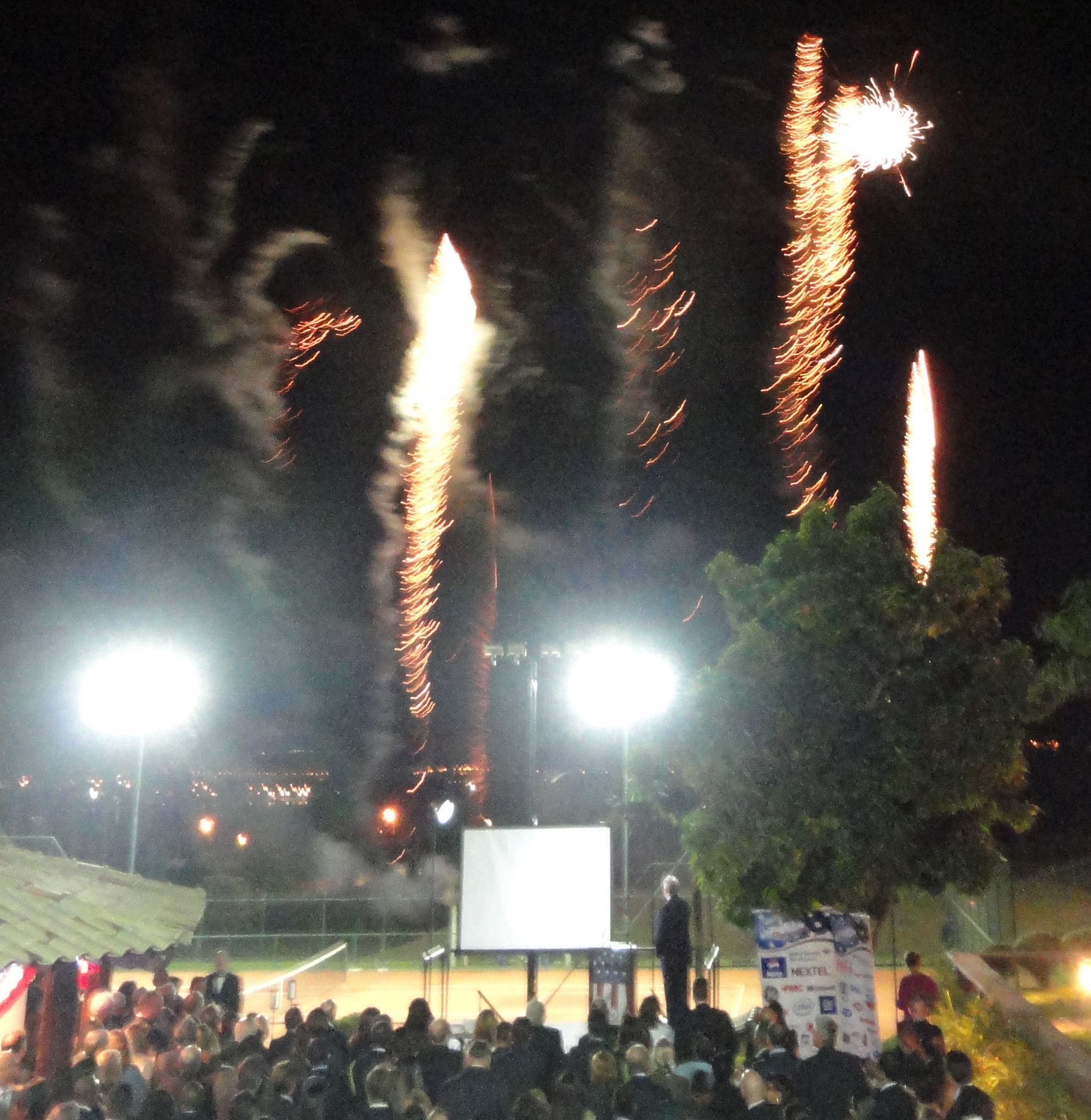 Firworks at July 4 celebration in Brasilia