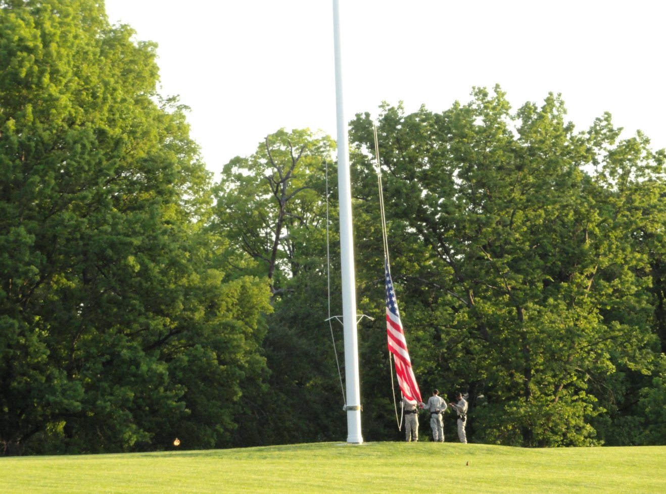 Flag raising at Ft Meyer