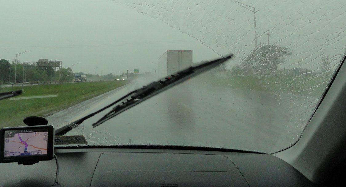 heavy rain on I65