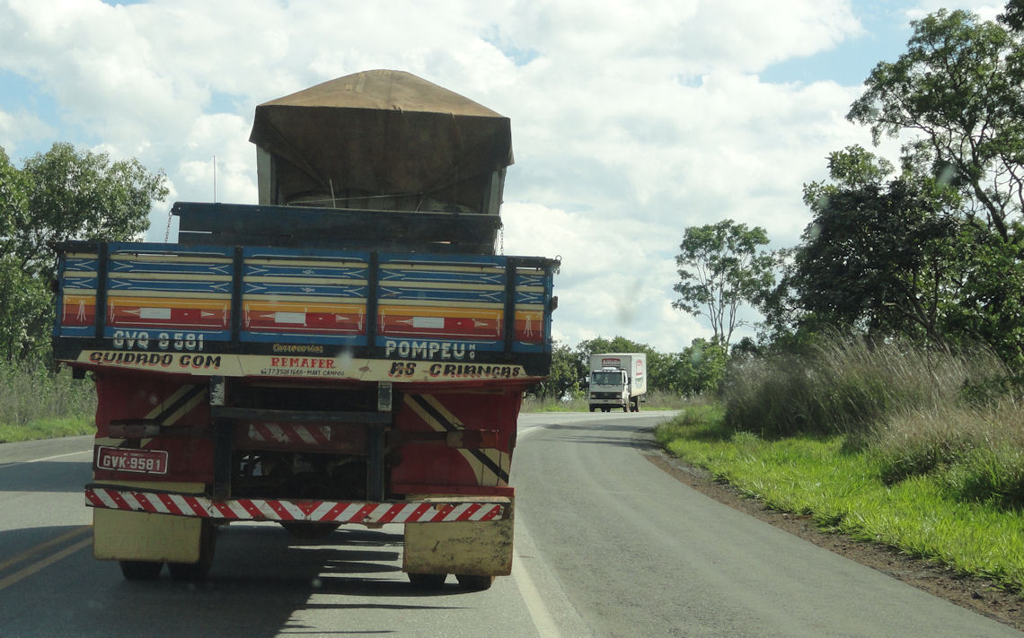 Trucks on BR 040 in Goias
