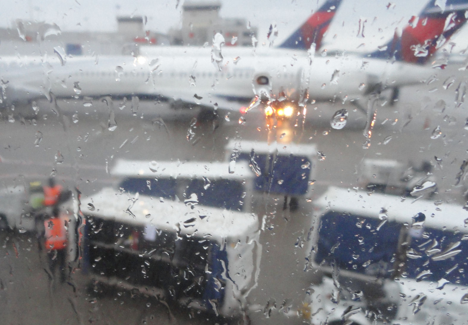 Rain at Atlanta airport