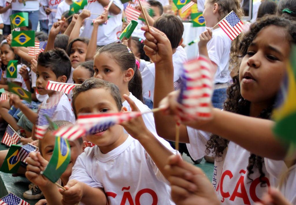 Right after the 9/11 attacks, the students at School #8 in Ceilândia made an American flag representing their feelings and sympathy toward Americans.  It was a beautiful and moving gesture and several generations of Foreign Service Officers have kept the flag over the last ten years and kept the memory of how it was made and presented.