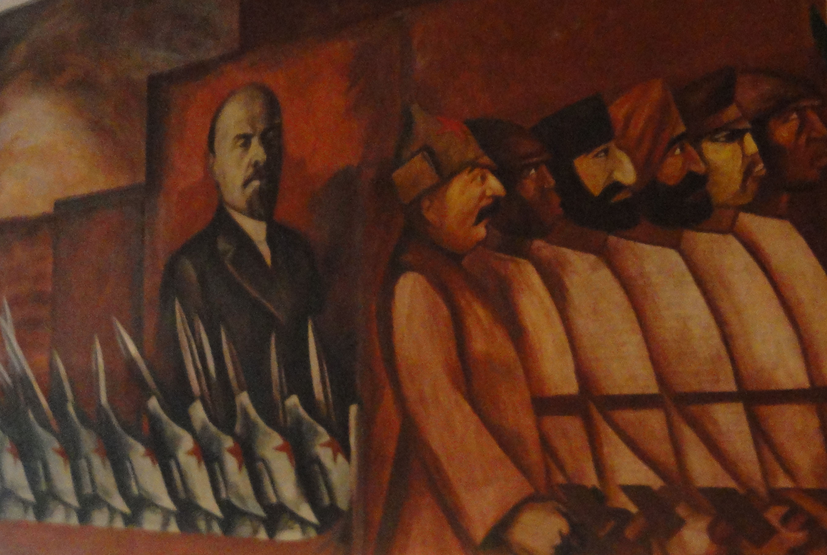 Mural of Lenin at New School