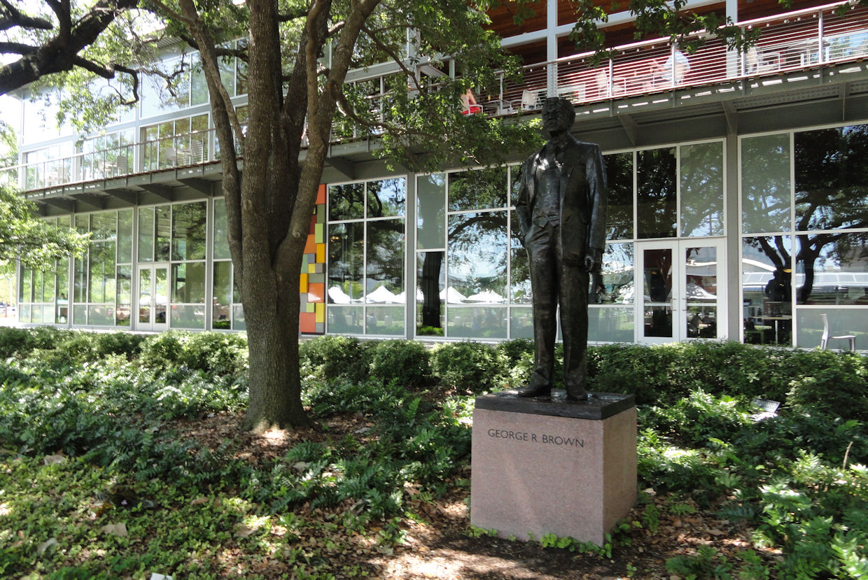 George R Brown statue in Houston
