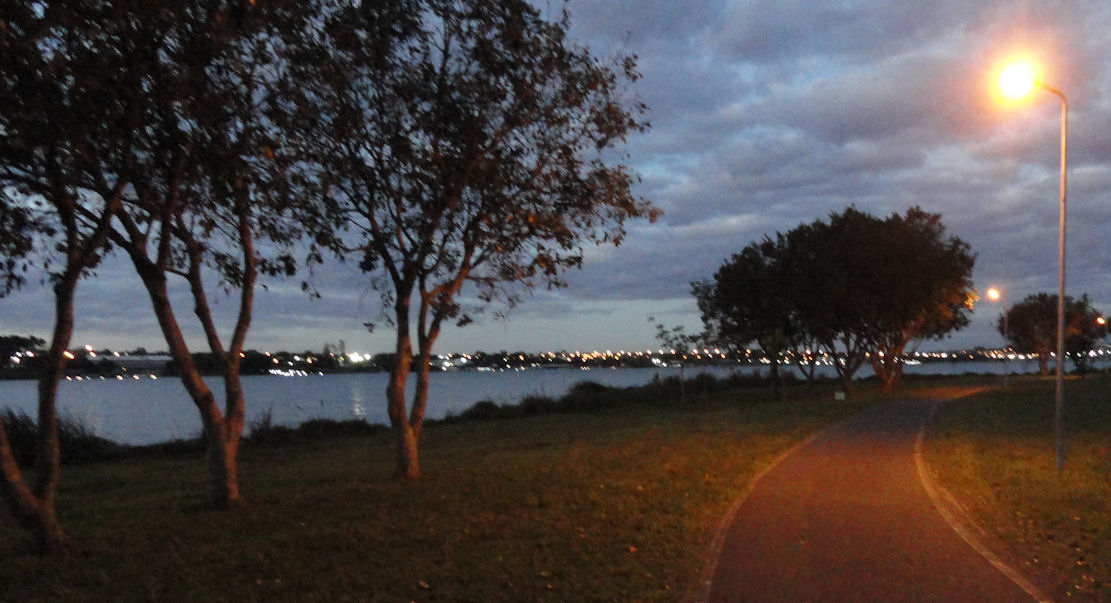Running trail along Lake Paranoa in Brasilia