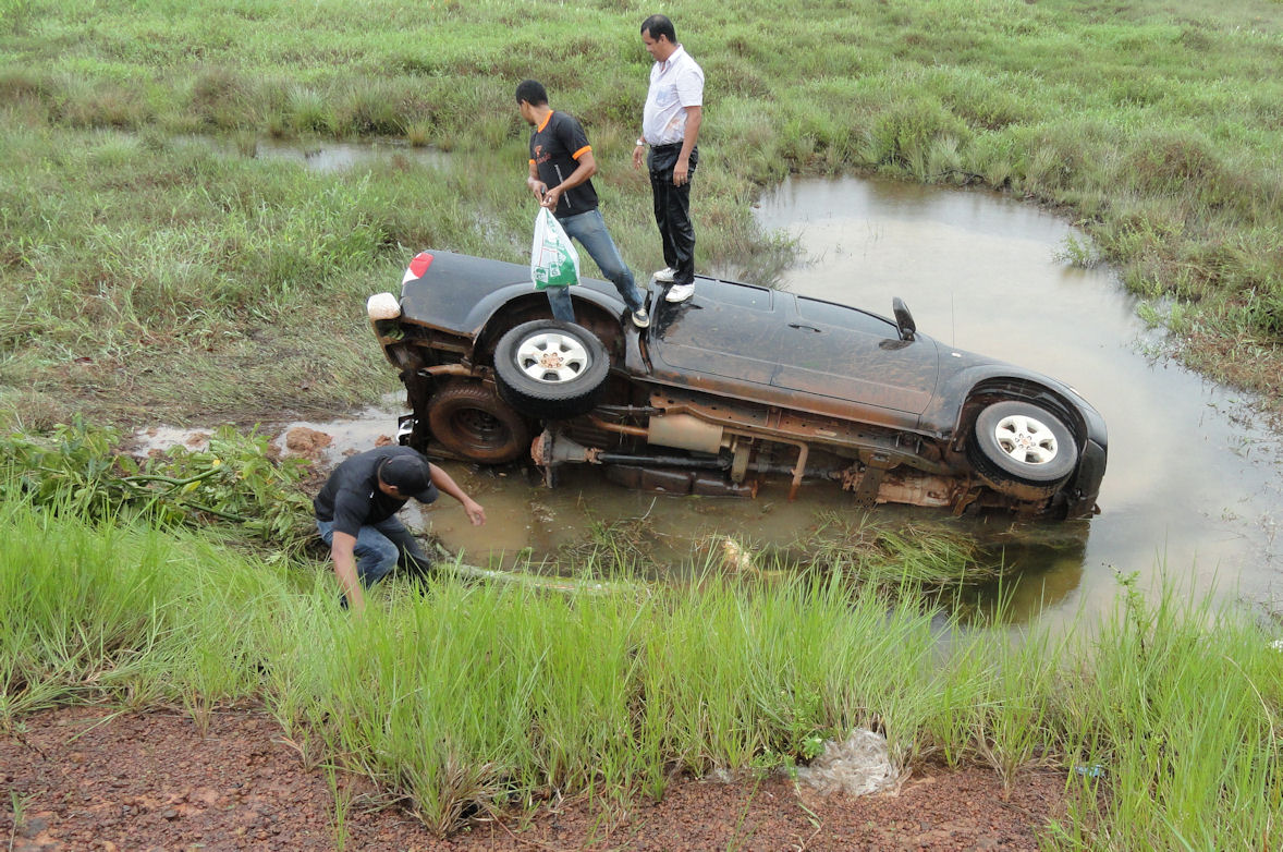 Car in the ditch