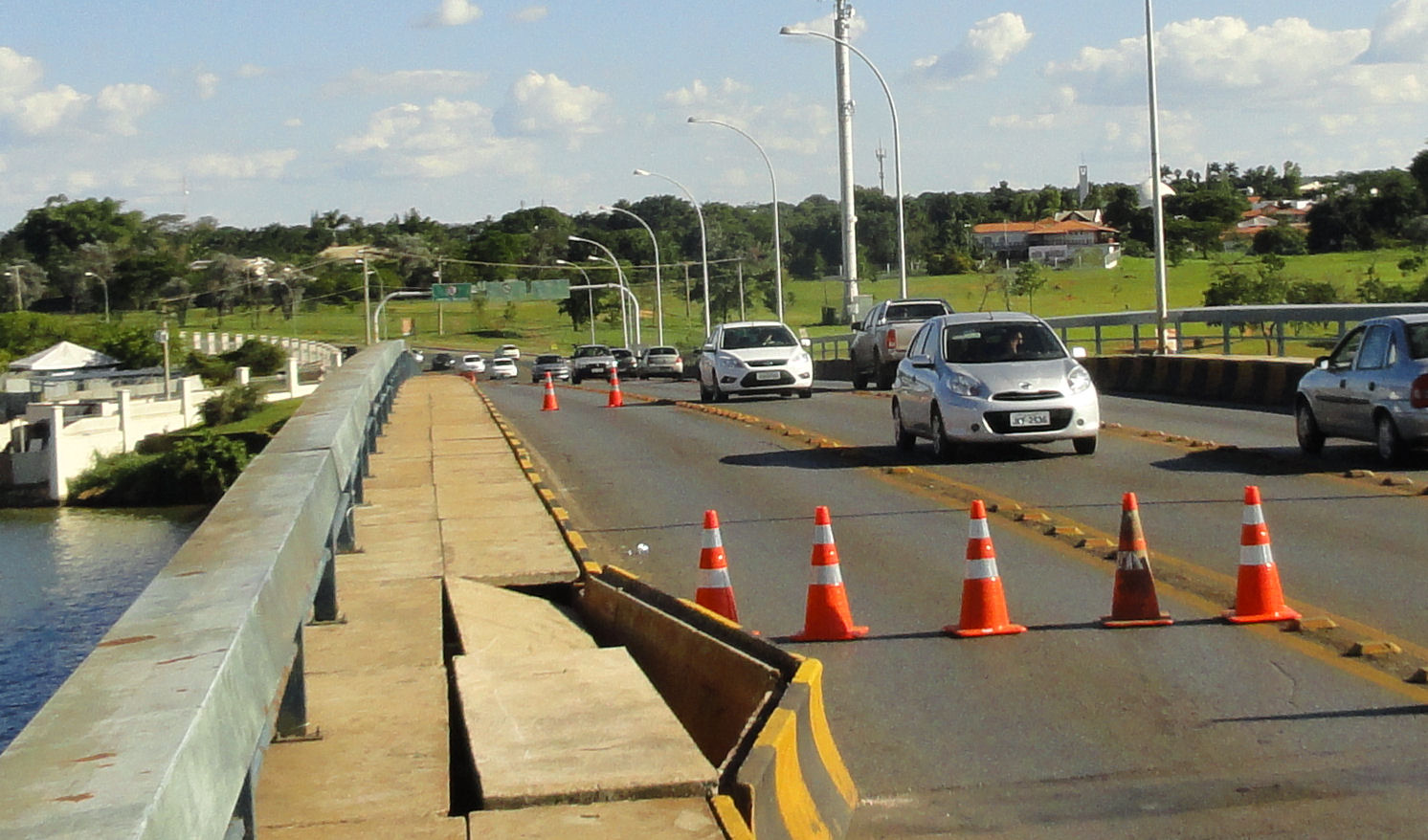 Broken bridge in Brasilia